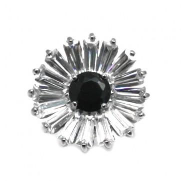 Anello margherita argento e pietre di sintesi