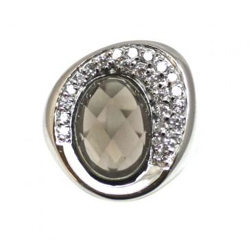 Anello argento e pietre di sintesi