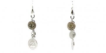 Orecchini charms monete argento