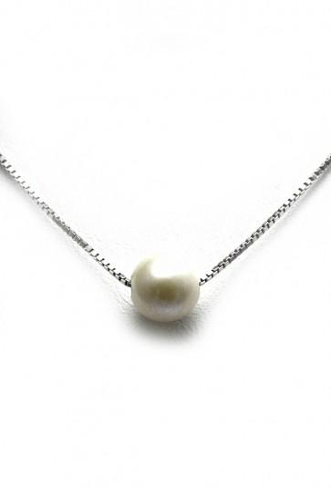 Collana/ciondolo argento e perlina coltivata