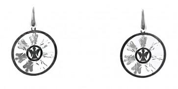 Orecchini circolari angioletti argento