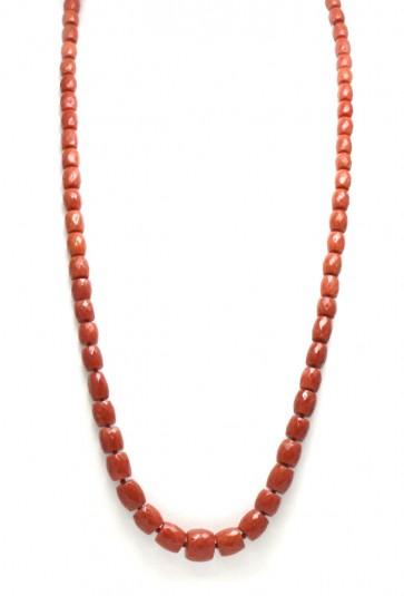 Collana corallo rosso e oro (75 cm, 75,7 gr)