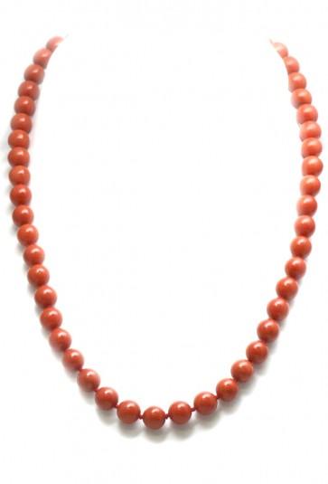 Collana corallo rosso e oro