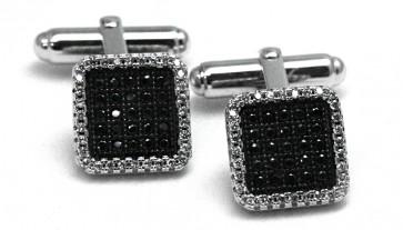 Gemelli argento e zirconi