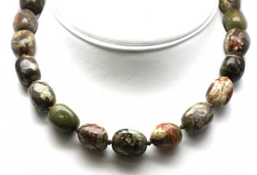 Collana di diaspro e argento