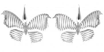 Orecchini farfalle argento