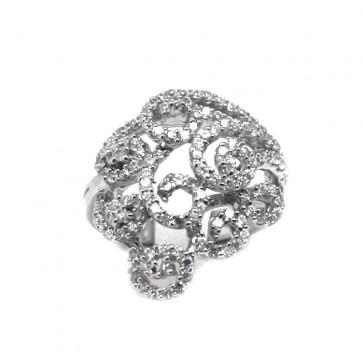 Anello argento e zirconi bianchi