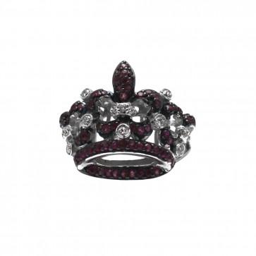 Anello corona rubini
