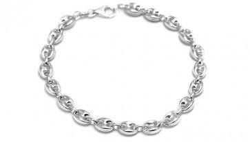Bracciale uomo catena maglia marinara argento