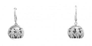 """Orecchini """"chiama angeli"""" bimbi/bimbe argento e zirconi"""