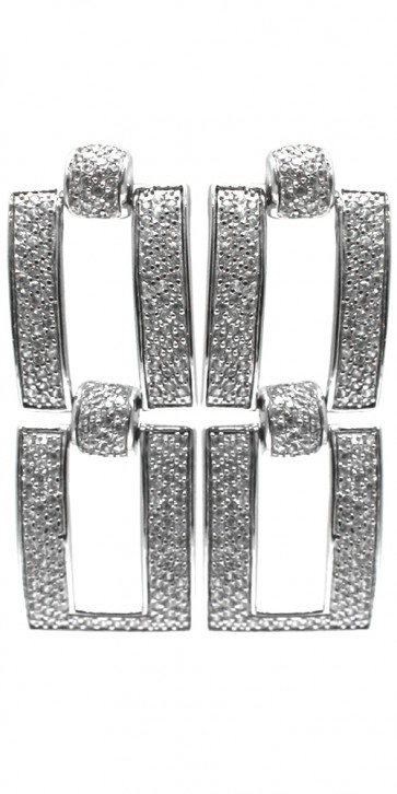 Orecchini maxi argento e zirconi