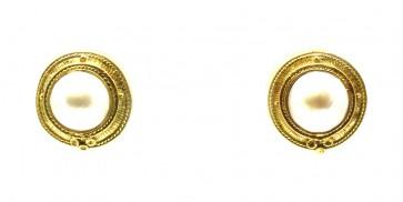 Orecchini al loro oro e perle mabè