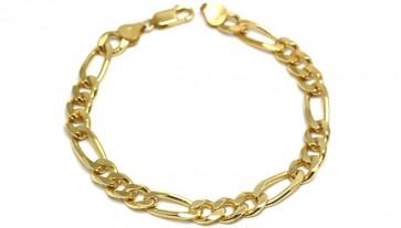 Bracciale uomo catena groumette argento dorato