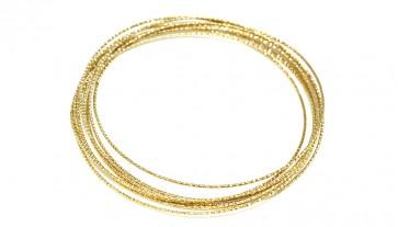 Bracciale bangles, 9 cerchi, argento dorato