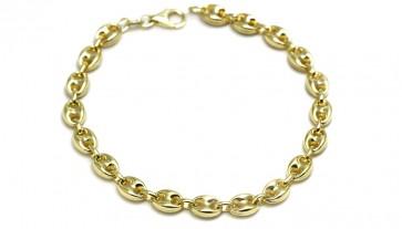 Bracciale uomo catena maglia marinara argento dorato