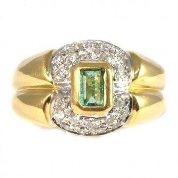 Anello fascia, oro, diamanti