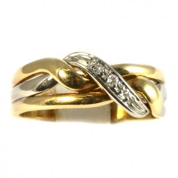 Anello fascia in oro