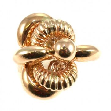 Anello maxi oro in stile