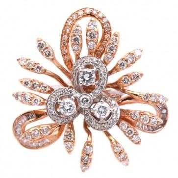 Anello oro  bicolore e diamanti