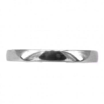 Anello fede D-side, Damiani, platino e diamanti