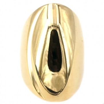 Anello maxi spola bombata oro giallo