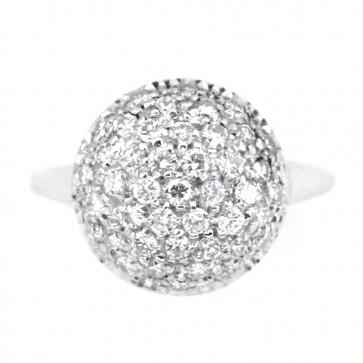 Anello palloncino in oro e diamanti