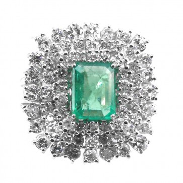 Anello maxi oro, diamanti