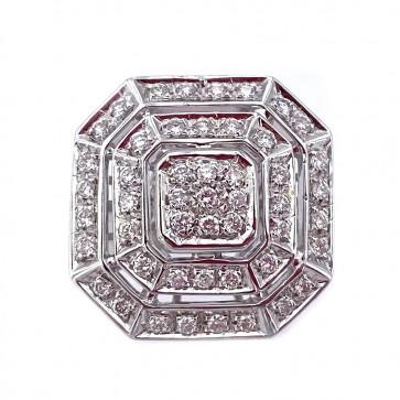 Anello maxi geometrico in oro e diamanti