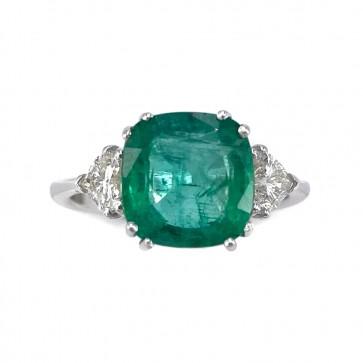 Anello oro, smeraldo -