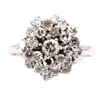 Anello in stile fiore oro e diamanti