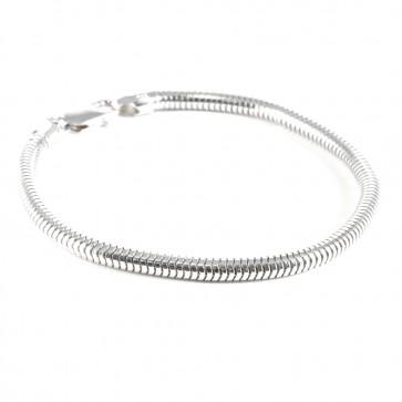 Bracciale tubo gas-coda di topa argento bianco