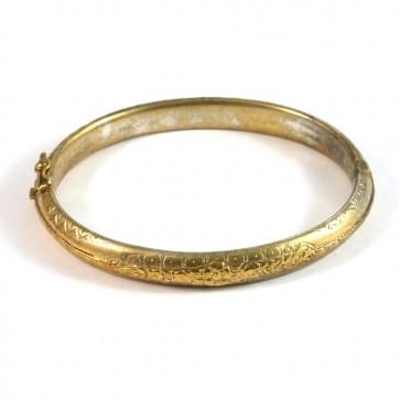 Bracciale cerchio rigido periziato antico