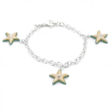 Bracciale charms stelle marine argento