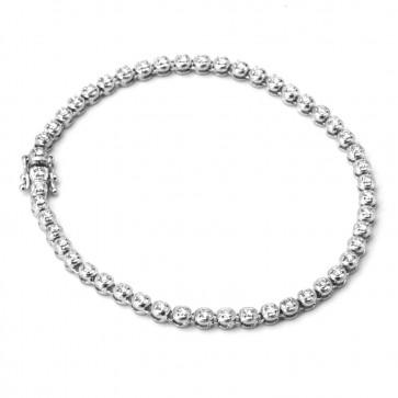 Bracciale tennis oro e diamanti