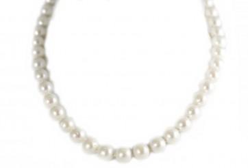 Collana perle d'acqua dolce da 10 mm e oro - 47 cm; 59,8 gr