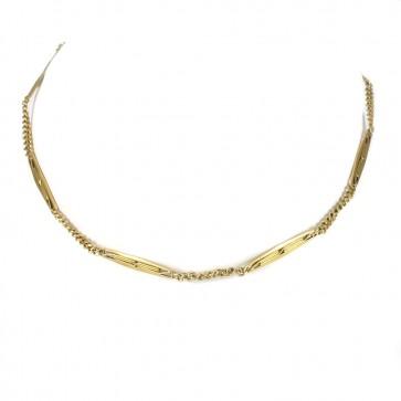 Collana losanghe vintage catena da orologio oro