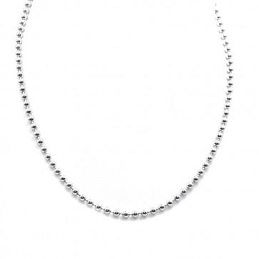 Collana palline uomo-donna  argento