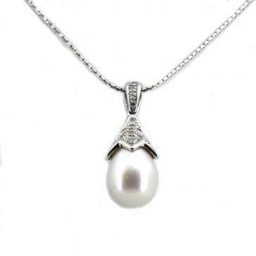 Ciondolo in stile oro, perla di mare