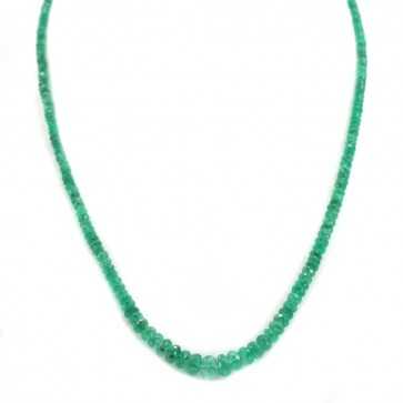 Collana un filo smeraldi a scalare - 65 ct - e oro.