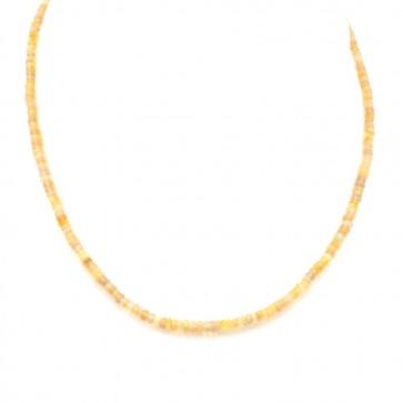 Collana micro opali e oro