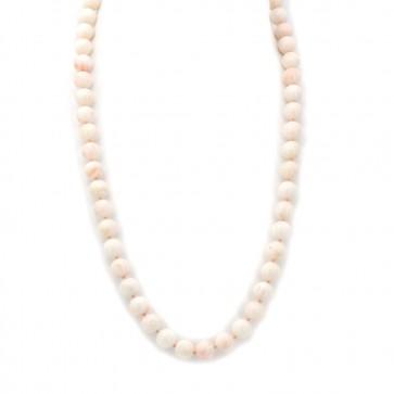 Collana di corallo rosa, sferico -11.5 mm - e oro