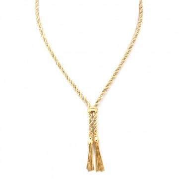 Collana UNOAERRE treccia bicolore oro
