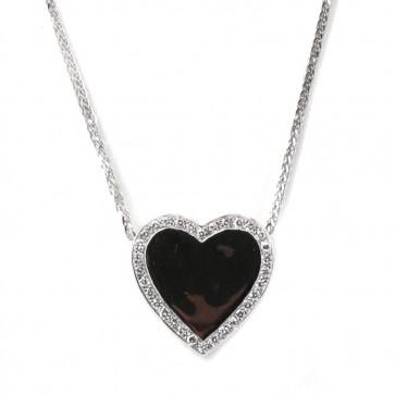 Ciondolo cuore oro e diamanti