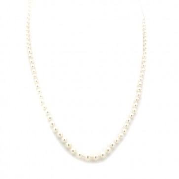 Collana da 48 cm di perle giapponesi chiusura in stile oro;