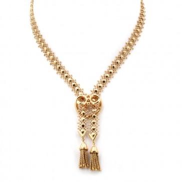 Collana modello saliscendi oro, vintage