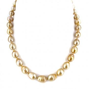 Collana girocollo di perle gold baroccate