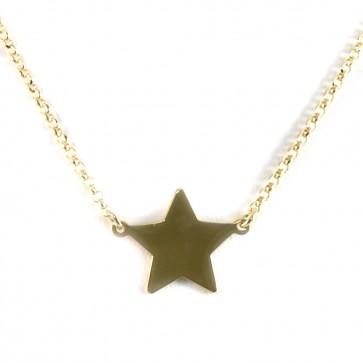 Ciondolo-collana argento dorato e stella