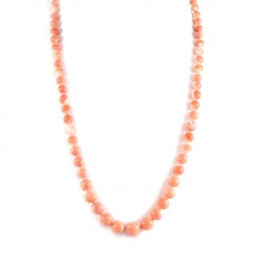 Collana di corallo rosa  salmone disomogeneo
