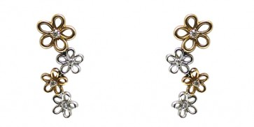Orecchini oro bicolore e diamanti