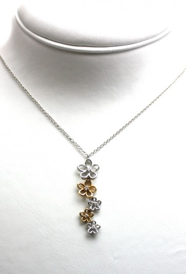 Ciondolo oro bicolore e diamanti